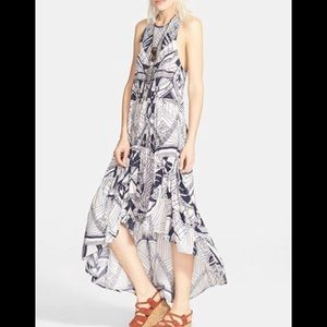 FREE PEOPLE Le Mar Graphic Print Maxi Dress Small
